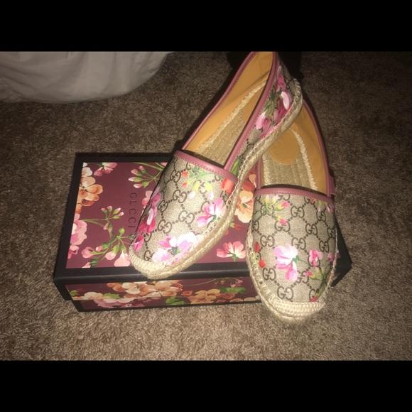 33b8c8cc529 Gucci Shoes - Authentic Gucci Blooms Supreme Espadrilles